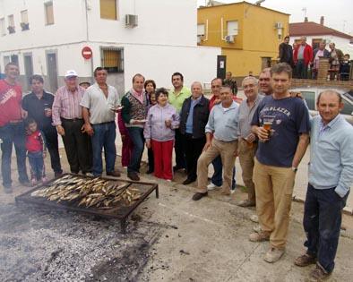 Fiesta en el barrio obrero de Villafranca