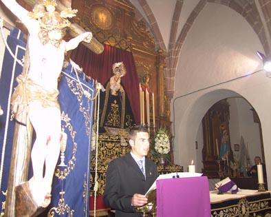Emocionante pregón de Rafael Mollejas en Pedro Abad